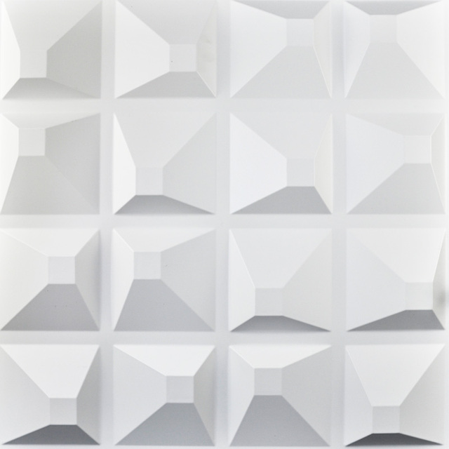 Decorative Plastic 3d Wall Art Wall Tile Pack Of 12 Tiles
