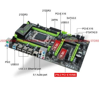 HUANAN ZHI X79 motherboard with dual M 2 slot discount motherboard bundle  CPU Intel Xeon E5 1650 3 2GHz RAM 16G(4*4G) DDR3 RECC