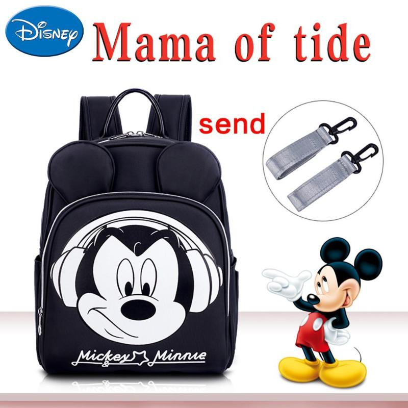 Disney Multi-function Mummy Backpack Mickey Mouse Baby Diaper Bag Travel Women Street Backpacks Large Capacity Infant Nappy Bags