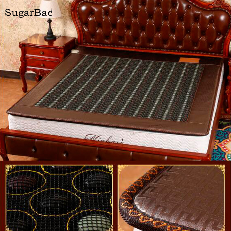 New Jade&Tourmaline Mixed Stone Mattress Pain Relief Heating Mat Massagem Mattress Free Shipping soft laser healthy natural product pain relief system home lasers
