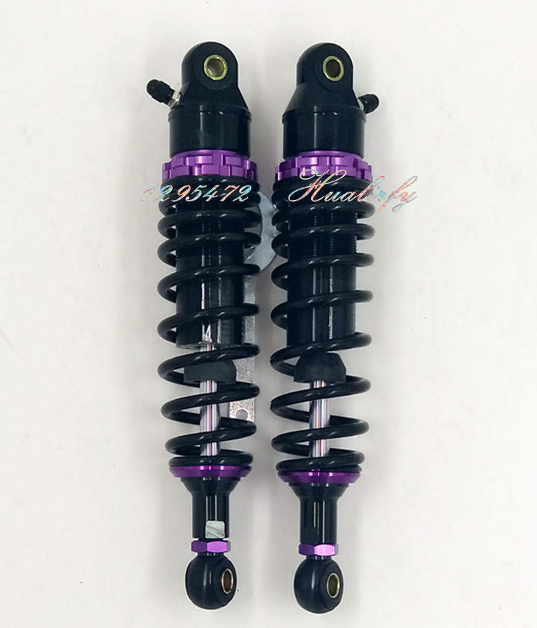 7mm spring 1 Pair 305mm  315mm  325mm Motorcycle  Dirt Bike Rear Suspension Air Shock Absorber  black & purple new 13 5 340mm motorcycle a pair air shocks absorber eye to eye gokart purple
