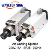 Air Cooling Spindle 3.5KW GDZ93*82-3.5 220V 15A 300HZ 18000RPM ER25 4p Air Cooling