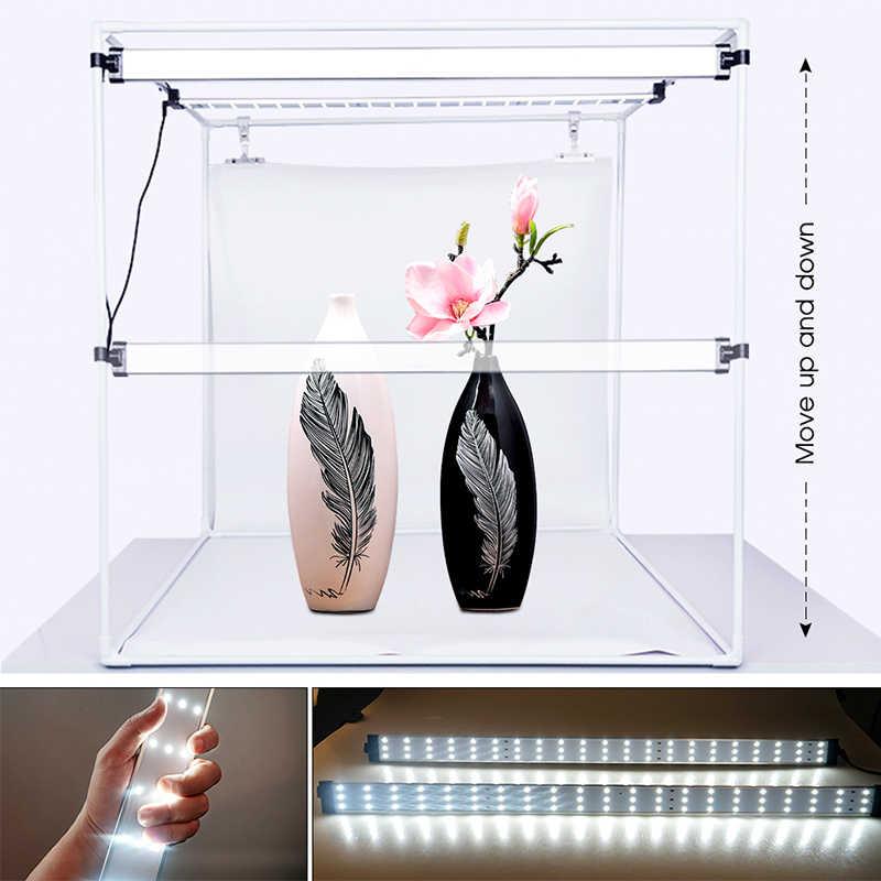 Travor 80*80 CENTÍMETROS Portátil Softbox Caixa de Luz Foto LEVOU Lightbox Tenda Com 3 Cores de Fundo Para A Fotografia de Estúdio caixa de iluminação
