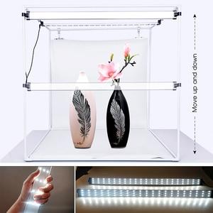 Image 3 - Travor صندوق إضاءة 80*80 سنتيمتر المحمولة سوفت بوكس صور LED صندوق إضاءة خيمة مع 3 ألوان خلفية ل استوديو التصوير صندوق إضاءة
