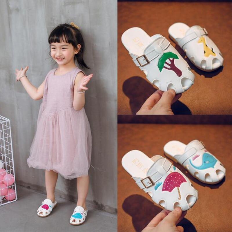 Kids Shoes For Girls Summer Children Slippers Cartoon Anti Slip Sandals Indoor Outdoor Beach Shoes Cute