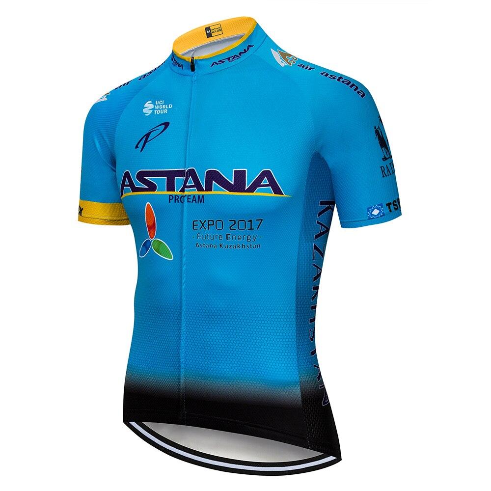 цена на ASTANA Sport Bike Team Racing Cycling Jersey Tops Summer Bicycle Cycling Clothing Ropa Ciclismo Breathable MTB Bike Jersey Shirt