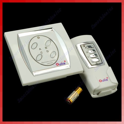 4 canal ON/OFF interruptor de Control Digital inalámbrico de Control remoto de la lámpara