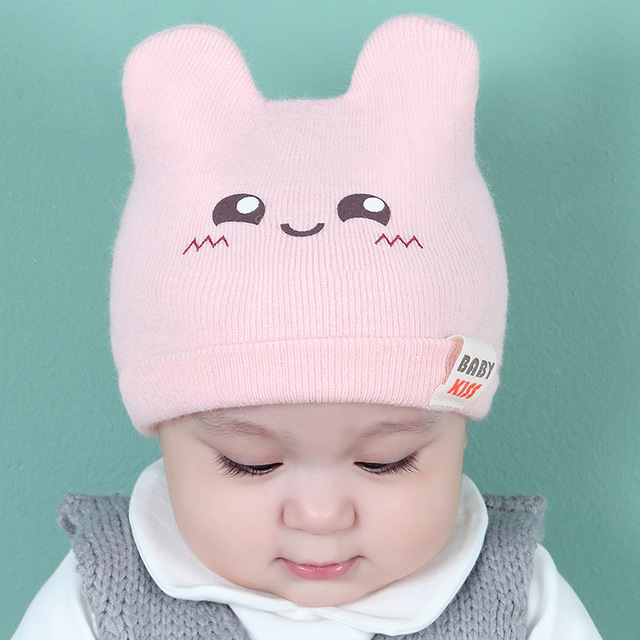 64f09cd87c4 New Baby Hats Autumn and Winter Knitted Caps Korean Cartoons Pattern Infant  Girl Boy Hats for 0-6-12 months 5 Colors
