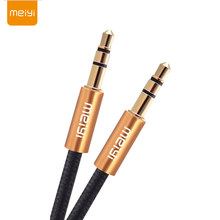 MEIYI 3.5 mm Jack Aux Audio Cable Male to Male Car Aux Cable Gold Plated Auxiliary Cable for Car / iPhones / Media Players(China)