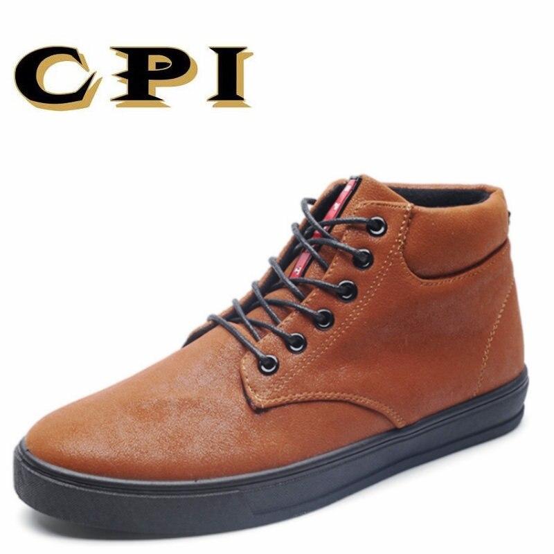IPC 2018 estilo británico alta calidad cómodo zapatos de invierno botas moda botas de nieve caliente invierno hombres zapatos botas PP-106