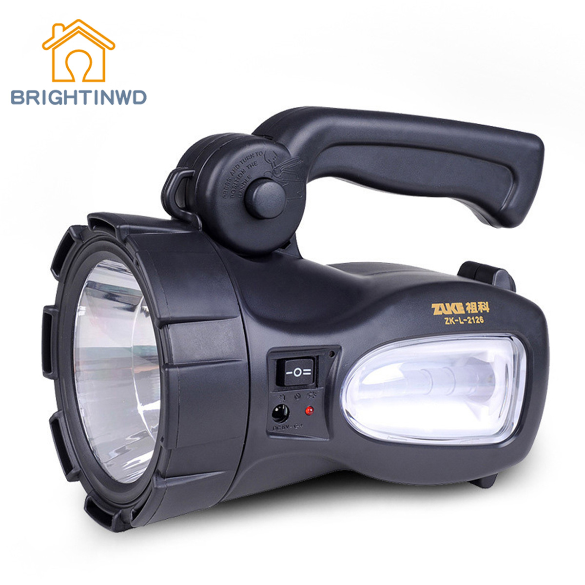 BRIGHTINWD Glare Charge LED Long-Range Handheld Searchlight Home Camping Lantern Rainproof glare 30