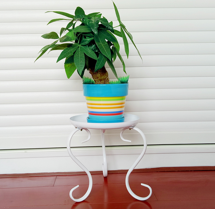 Single Plant Shelves European Iron Flower Simple Green Plant Frame Floor Balcony Sitting Room Flower Pot Rack lang qing court iron creative flower green dill multilayer wooden living room interior floor spider showy flower pots