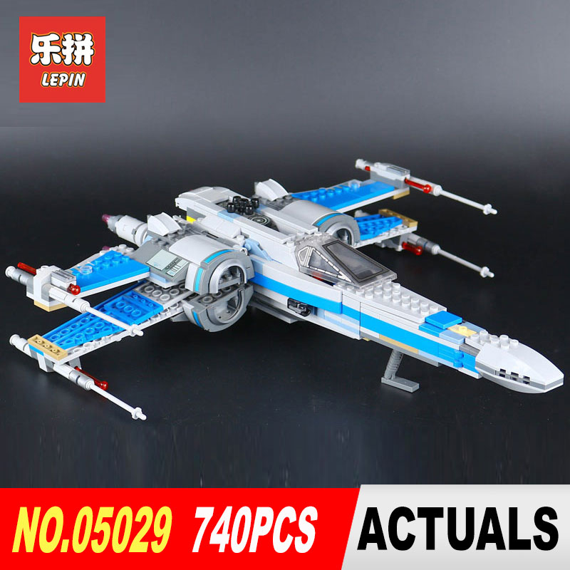 LEPIN 05029 740Pcs STAR classic X fighter wing KIDS TOY Building blocks assembled Compatible legoed 75149 Educational toys WARS new 1685pcs lepin 05036 1685pcs star series tie building fighter educational blocks bricks toys compatible with 75095 wars
