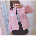 Bunny Sweet Lolita Jackets Kawaii Rabbit Soft Sister Girly Girl Cute Japanese Women Harajuku Baseball Ribbons Sleeves Overcoat
