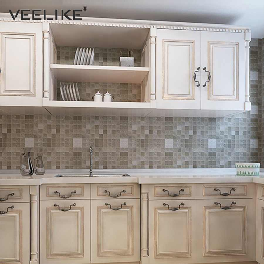 - Mosaic Tiles Vinyl PVC Self Adhesive Wallpaper For Bathroom