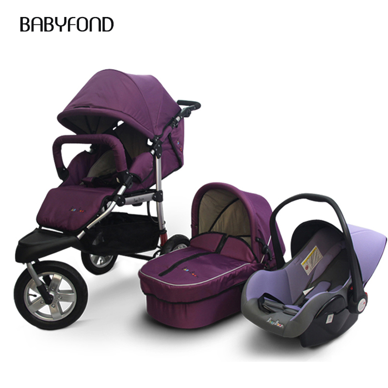 3 in 1 baby boom High Landscape Baby Cart baby strollers with car saet new born carriage 0-3 yeras ...