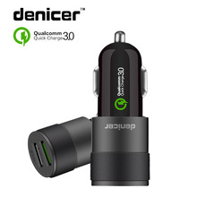 Denicer Quick QC three.zero Twin USB Sprint Automotive Charger Cellular Telephone Automotive-Charger Adapter For iPhone 7 Samsung Xiaomi Automotive Telephone Charger