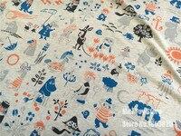 100x170 cm hippopotame tricoté coton tissu Pour Couture Fat Quilting Patchwork bébé bricolage Chemise jupe