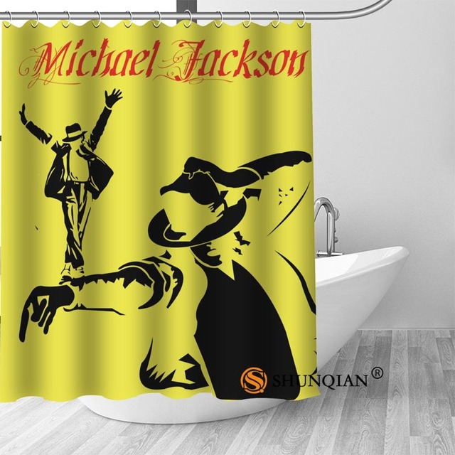13 Michael jackson shower curtain washable thickened 5c64f7a44eda9