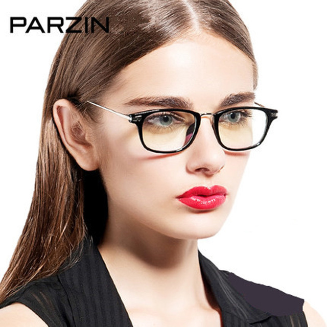 cfd14e6f210 Parzin Women Eyeglasses Frames Tr 90 Optics Clear lens Reading Glasses  Brand Designer Eyewear Accessories With