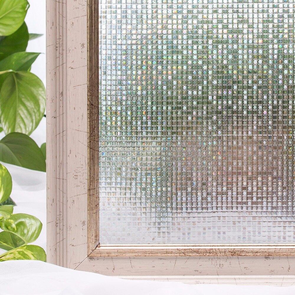 CottonColors Fenêtre Films Sur La Vie Privée Sans Colle 3D Statique Film Décoratif, fenêtre En Verre Autocollants Taille 60x200 cm