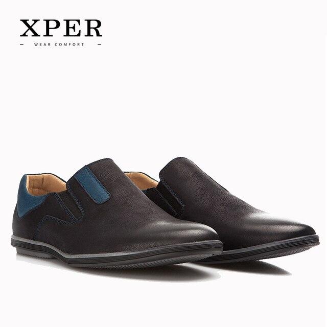 2017 XPER Мужчины Обувь Новая Коллекция Мужчины Бездельников Удобные Мужчины Квартиры Обувь # YM86831BU/BN
