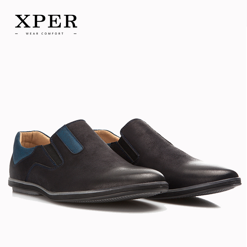2017 XPER Men Shoes New Collection Men Loafers Comfortable Men Flats Shoes YM86831BU BN