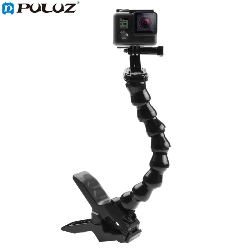 PULUZ PU179 Jaws Flex Bent Neck Clamp Mount for Gopro SJCAM EKEN for XIAO MI YI for MIJIA Action Sports Camera Accessories ...