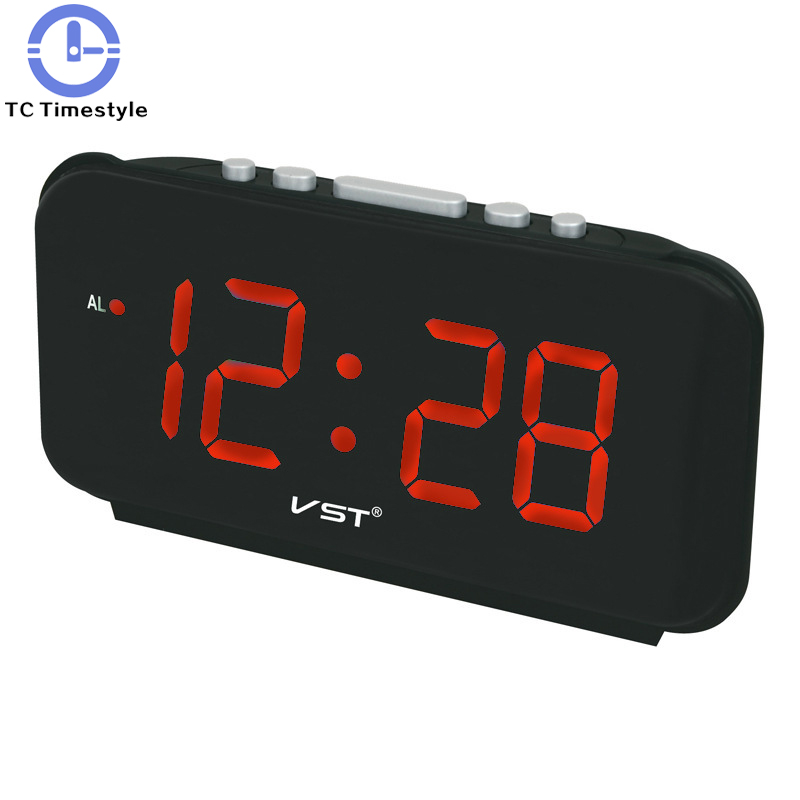 Big Numbers Large Display Alarm Clock Modern Plastic Table Clock Digital Led Alarm Clock Glowing Digital Desk Luminous Clock