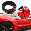 Black 4.5M Rubber Side Door Edge Guard Bumper Protection Strip for Ford Mustang