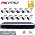 Hikvision Surveillance Kits 8MP Resolution Network POE NVR Kit CCTV Security System 8MP Bullet Outdoor IP Camera IR Night Vision