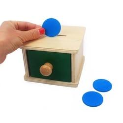Brinquedos de madeira do bebê montessori para a criança infantil caixa de moeda mealheiro aprendizagem juguets montessori materiais brinquedos de madeira pré-escolar