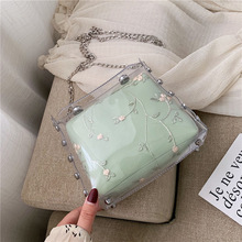 2019 New Linger Chain one shoulder wide range transparent jelly bags