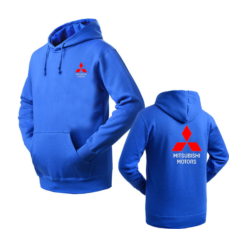 Brand Clothing Mitsubishi logo Fashion pullover Hoodie New Casual Men Hoodies Sweatshirts Printed Pullover Hoodie Cotton