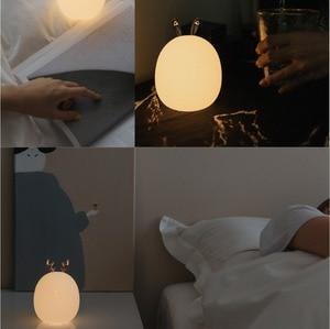 Image 4 - Youpin ระบบนิเวศซิลิโคน TOUCH SENSOR LED Night Light สำหรับเด็กเด็กทารกสี 2 โหมดกระต่ายกวาง LED USB LED โคมไฟกลางคืน