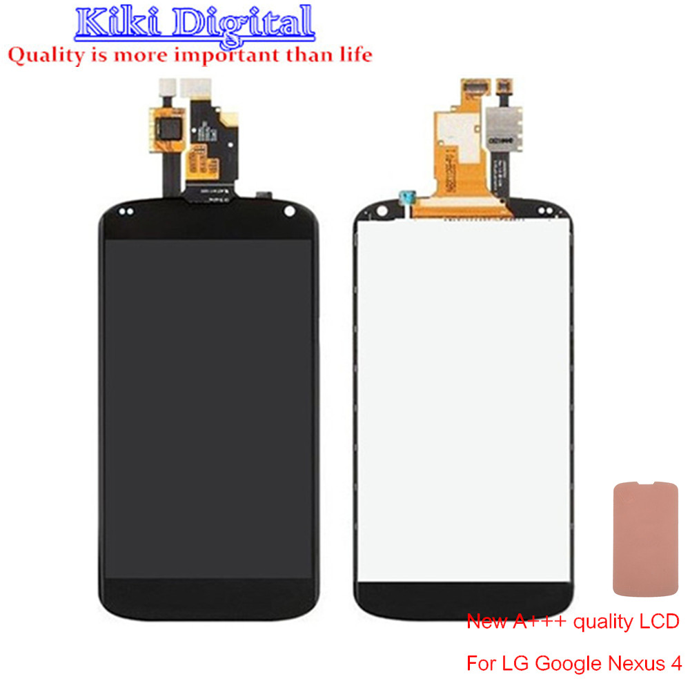 100 Original Replacement LCD Display Touch Digitizer Screen With Frame Assembly For LG Nexus 4 E960