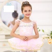 Ballet Dance Costume Girls sleeveless Sleeve Children Swan Lake Performance Ballet Tutu Kids Ballet Dancing Skirt dress.