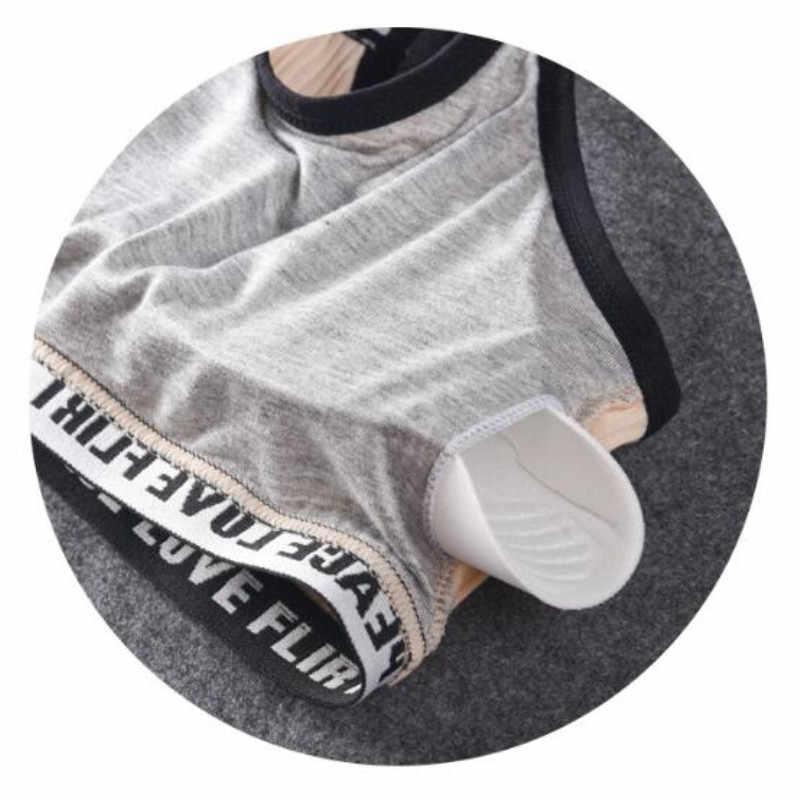 Fashion Huruf Bra Olahraga Atas Push Up Kebugaran Berlari Gym Yoga Bra Olahraga Katun Atasan untuk Wanita Kebugaran Pakaian Gym Wanita pakaian Olahraga