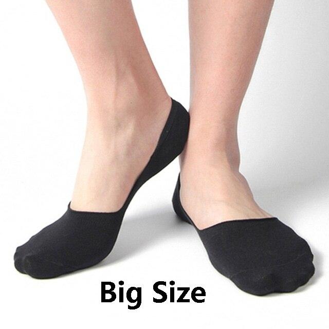 10 Paare/los Männer Unsichtbare Faser Baumwolle Socken Boot Anti Slip Hohe Qualtiy Sommer Slipper Big Größe Eu43-47 Plus Größe Dauerhafte Modellierung