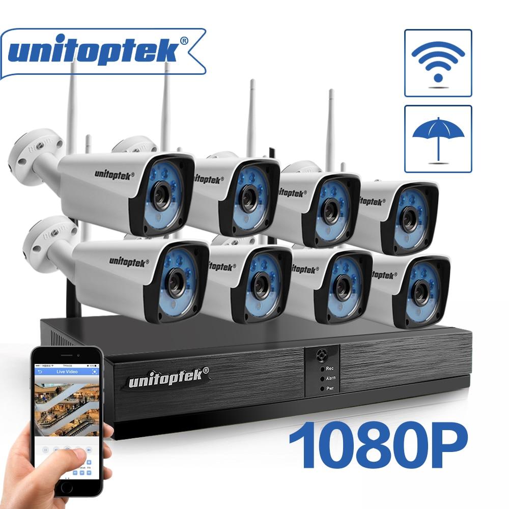 8CH H 265 CCTV System Wireless 1080P NVR KIT 8PCS 2MP IR Outdoor P2P WIFI IP