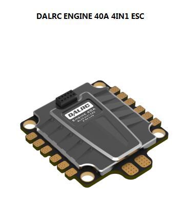 Moteur DALRC 40A 4IN1 ESC BLheli32 DShot 1200 pour bricolage drone quadrirotor FPV