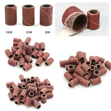 300pcs Nail Art Sanding Bands For Electric Nail Drill Machine Milling Drill Bits Cutter File For UV Gel Polish Remover Grinder