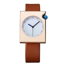cd735e4aa9a Elegante 7 MM Ultra Fino Unisex Simples Relógio de Quartzo Das Mulheres Dos  Homens Pulseira de