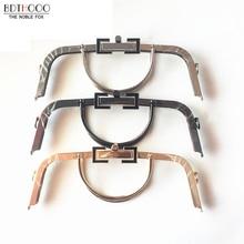 Free shipping 30cm Bag Accessories Handbag Frame Purse Metal Handle DIY Kiss Clasp Lock for Women Handle Bag Frame Hardware