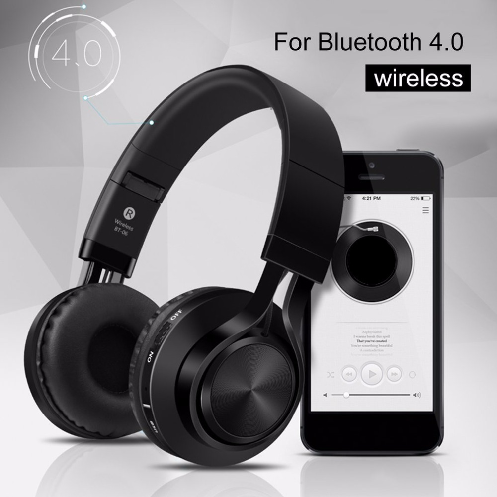Sound Intone Foldable Wireless Bluetooth 4.0 Headphones Stereo Build-in Microphone Wired Music Headsets MP3