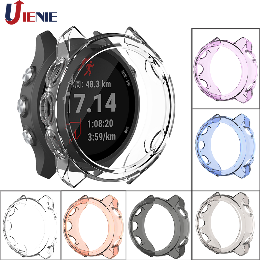TPU Protective Case Cover For Garmin Forerunner 245M 245 Protection Cover Shell Smart Watch Bracelet Colorful Protective Cover