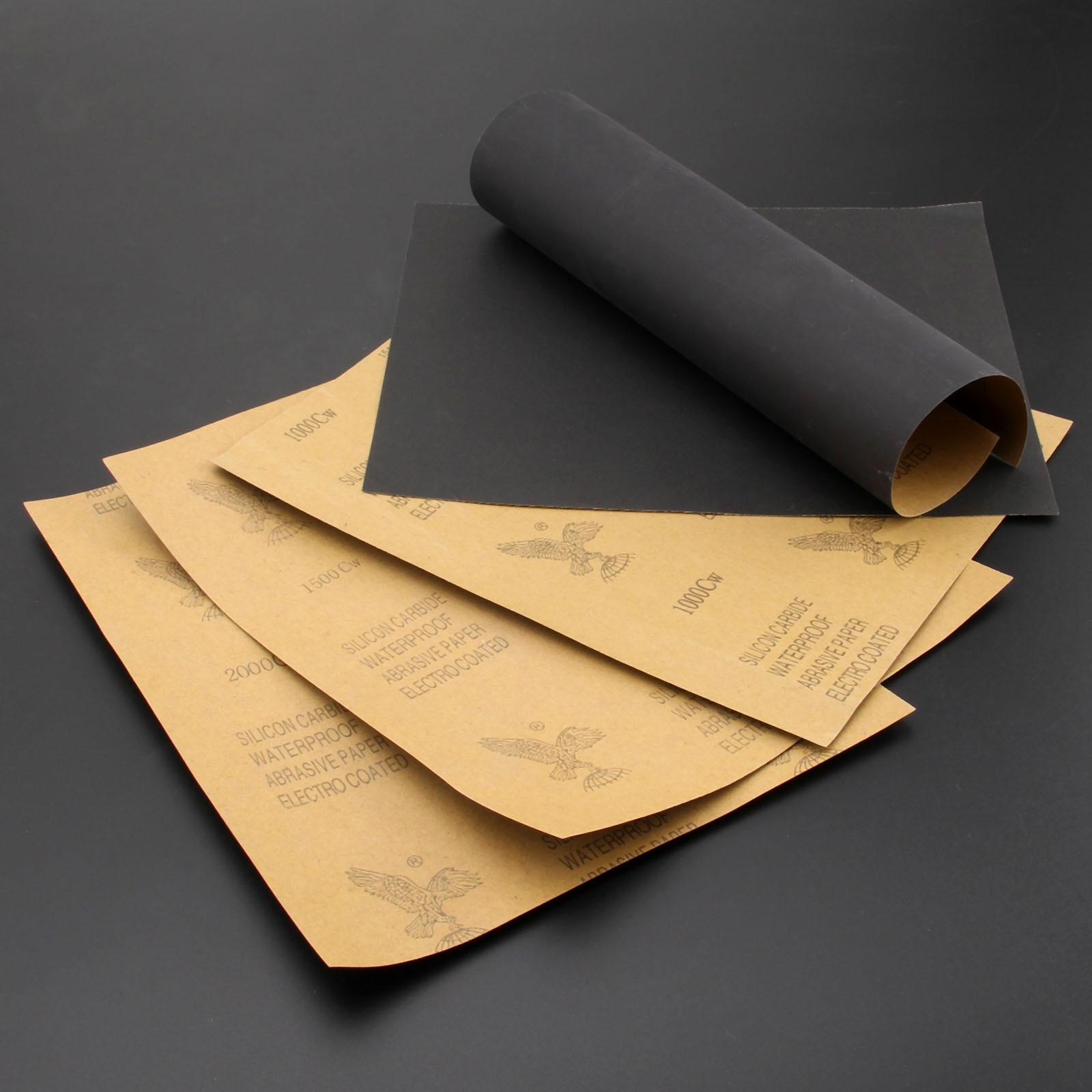 DRELD 5 lakštai iš švitrinio popieriaus neperšlampami abrazyviniu - Abrazyviniai įrankiai - Nuotrauka 4