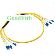 繊維パッチコードジャンパー LC LC UPC SM トランク 4 コアブレイクアウト 2 ミリメートル GoodFtth 1 15 メートル