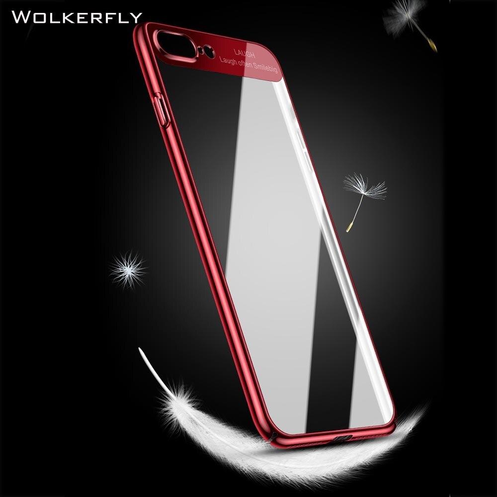 Phone Case for iPhone 8 8Plus X Luxury Slim Transparent PC Back Cover for iPhone 7 7Plus 6 6s Plus Case for Samsung S8 Plus Case