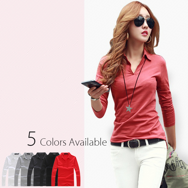 e60ac54af € 22.36 |2015 Summer Style Slim Fit Solid Casual Polo Shirt for Women Long  Sleeve Lady Polo top Shirts Womens Golf Camisa WZTXPO004 en Camisas polo ...
